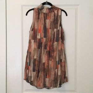 Short hi-low patterned dress with tags still on!
